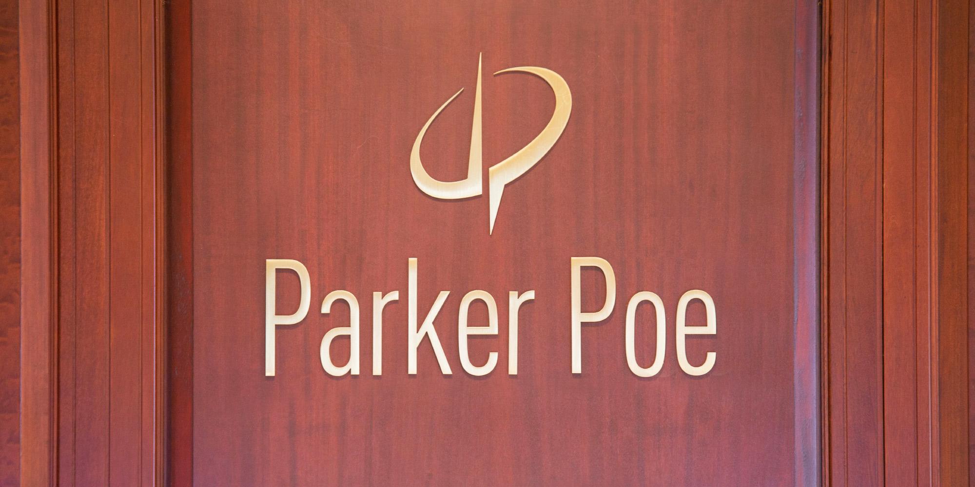 Parker Poe Lobby Signage